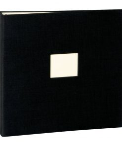 17 Rings Photo Album & Guest Book with book linen cover, black | 4250053673300 | 353348