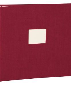 17 Rings Photo Album & Guest Book with book linen cover, burgundy | 4250053673287 | 353346