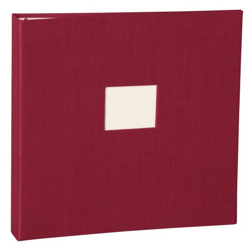 17 Rings Photo Album & Guest Book with book linen cover, burgundy   4250053673287   353346