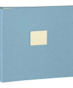17 Rings Photo Album & Guest Book with book linen cover, ciel | 4250053673324 | 353350