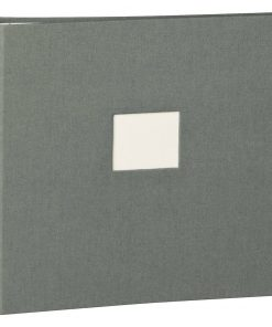 17 Rings Photo Album & Guest Book with book linen cover, grey   4250053673379   353354