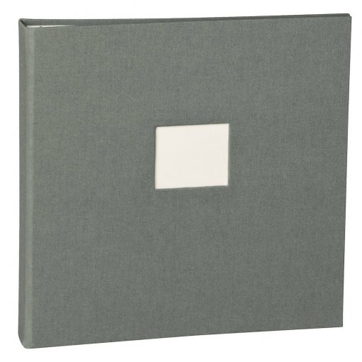 17 Rings Photo Album & Guest Book with book linen cover, grey | 4250053673379 | 353354