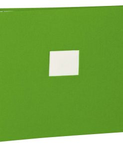 17 Rings Photo Album & Guest Book with book linen cover, lime   4250053673355   353352