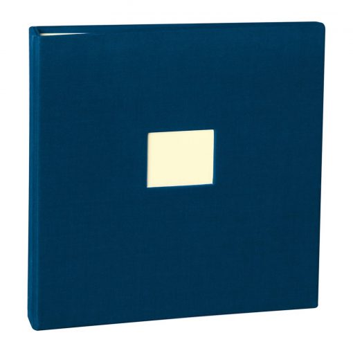 17 Rings Photo Album & Guest Book with book linen cover, marine | 4250053673263 | 353344