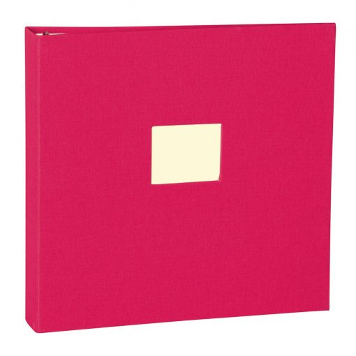 17 Rings Photo Album & Guest Book with book linen cover, pink | 4250053673294 | 353347