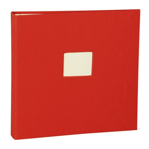 17 Rings Photo Album & Guest Book with book linen cover, red | 4250053673270 | 353345