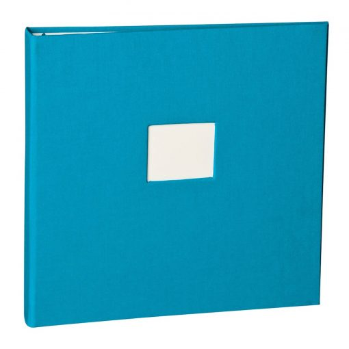 17 Rings Photo Album & Guest Book with book linen cover, turquoise | 4250053696934 | 353358