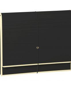 Accordion, file folder with 12 pockets, elastic band closure, black | 4250053658994 | 351982
