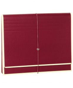 Accordion, file folder with 12 pockets, elastic band closure, burgundy | 4250053692424 | 351980