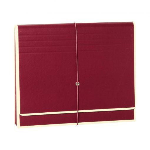 Accordion, file folder with 12 pockets, elastic band closure, burgundy | 4250053692424 | 351980