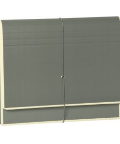 Accordion, file folder with 12 pockets, elastic band closure, grey | 4250053692493 | 351987