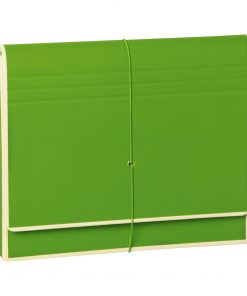 Accordion, file folder with 12 pockets, elastic band closure, lime | 4250053692479 | 351986
