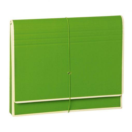 Accordion, file folder with 12 pockets, elastic band closure, lime | 4250053692479 | 351986