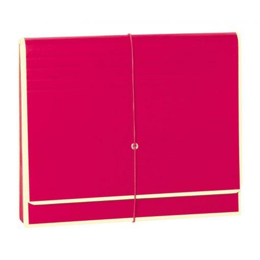 Accordion, file folder with 12 pockets, elastic band closure, pink | 4250053692431 | 351981