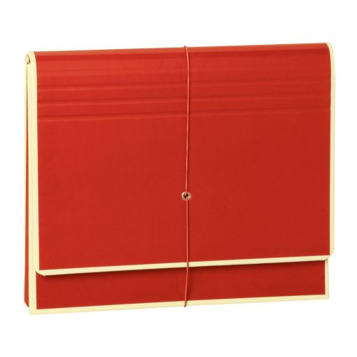 Accordion, file folder with 12 pockets, elastic band closure, red | 4250053658987 | 351979