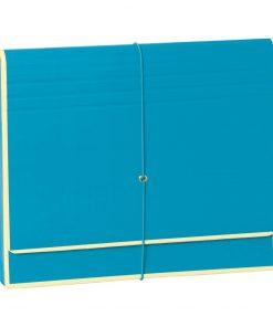 Accordion, file folder with 12 pockets, elastic band closure, turquoise | 4250053696767 | 351991
