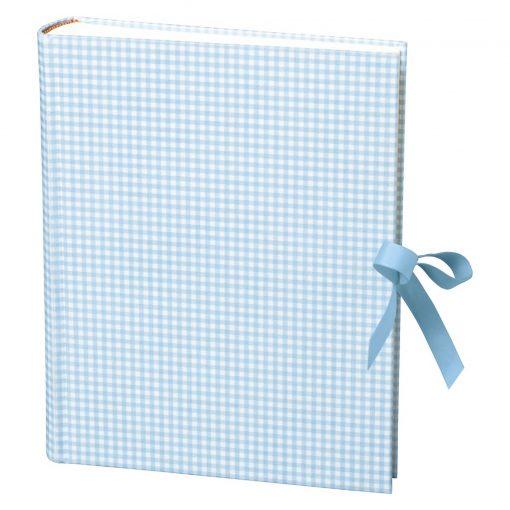 Album Large, booklinen cover, 130p., cream white mounting board, glassine paper,Vichy blue | 4250053621714 | 351038
