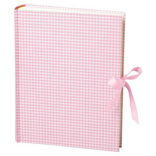 Album Large, booklinen cover, 130p., cream white mounting board, glassine paper,Vichy pink | 4250053621707 | 351037