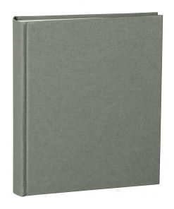 Album Medium, booklinen cover, 80pages, cream white mounting board, glassine paper, grey | 4250053620847 | 351014
