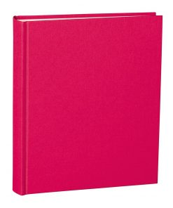Album Medium, booklinen cover, 80pages, cream white mounting board, glassine paper, pink | 4250053620779 | 351007