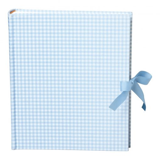 Album Medium, booklinen cover,80pages,cream white mounting board,glassine paper,Vichy blue | 4250053620878 | 351020