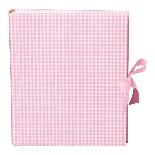 Album Medium, booklinen cover,80pages,cream white mounting board,glassine paper,Vichy pink | 4250053620861 | 351019