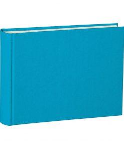 Album Small, 80p., cream white mountning board, glassine paper,book linen cover, turquoise | 4250053697030 | 350999