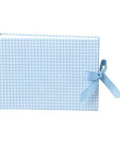 Album Small, 80p., cream white mountning board,glassine paper,book linen cover, Vichy blue | 4250053620168 | 351002