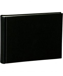 Album Small, 80pages, cream white mountning board, glassine paper,book linen cover, black | 4250053620076 | 350983