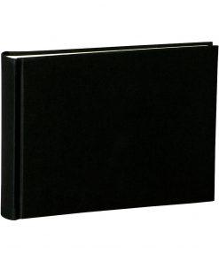 Album Small, 80pages, cream white mountning board, glassine paper,book linen cover, black | 4250053620076 | 350983