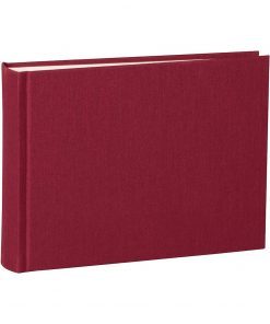 Album Small, 80pages, cream white mountning board,glassine paper,book linen cover,burgundy | 4250053620052 | 350980