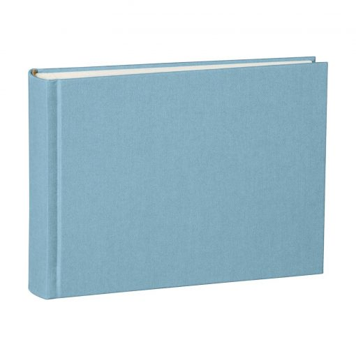 Album Small, 80pages, cream white mountning board, glassine paper,book linen cover, ciel | 4250053620090 | 350985