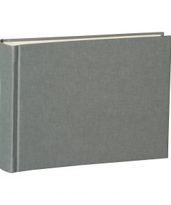 Album Small, 80pages, cream white mountning board, glassine paper,book linen cover, grey | 4250053620137 | 350991