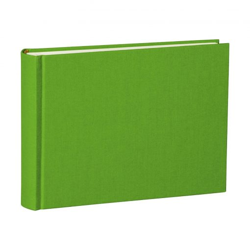 Album Small, 80pages, cream white mountning board, glassine paper,book linen cover, lime | 4250053620120 | 350987