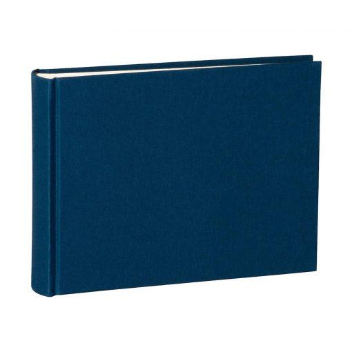 Album Small, 80pages, cream white mountning board, glassine paper,book linen cover, marine | 4250053620038 | 350978