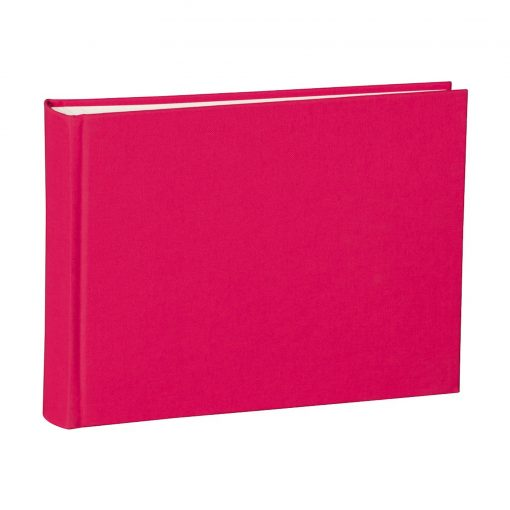 Album Small, 80pages, cream white mountning board, glassine paper,book linen cover, pink | 4250053620069 | 350981