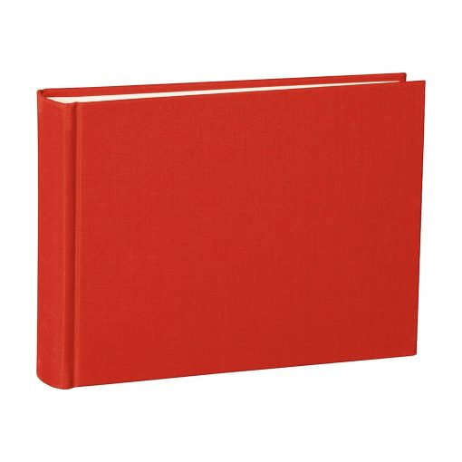 Album Small, 80pages, cream white mountning board, glassine paper,book linen cover, red | 4250053620045 | 350979