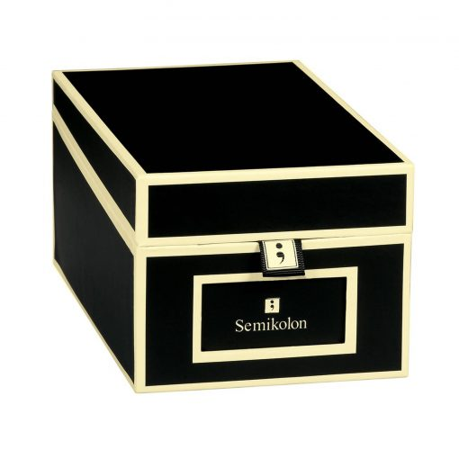 Business Card Box with 3 variable tabs and index cards A-Z, black | 4250053636176 | 352642