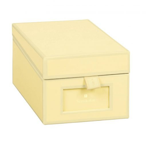 Business Card Box with 3 variable tabs and index cards A-Z, chamois | 4250053636213 | 352649