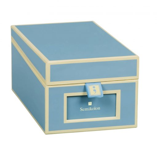 Business Card Box with 3 variable tabs and index cards A-Z, ciel | 4250053636183 | 352644