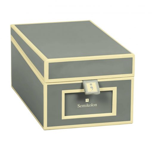 Business Card Box with 3 variable tabs and index cards A-Z, grey | 4250053636220 | 352647