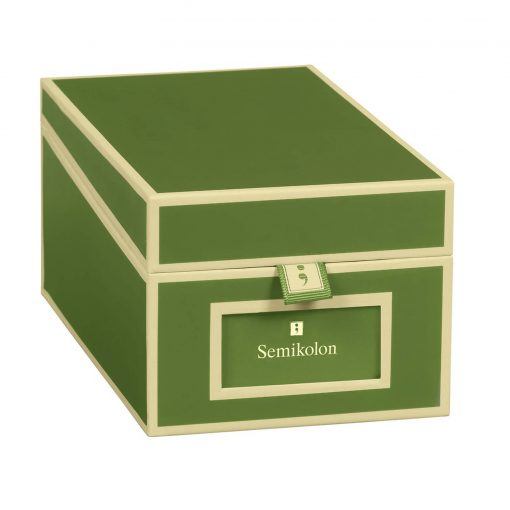 Business Card Box with 3 variable tabs and index cards A-Z, irish | 4250540923376 | 352643