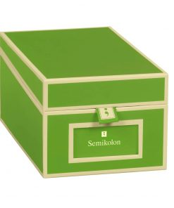 Business Card Box with 3 variable tabs and index cards A-Z, lime | 4250053636206 | 352646