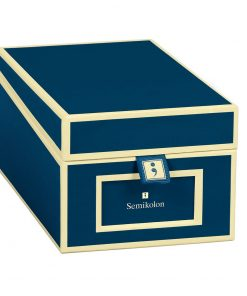 Business Card Box with 3 variable tabs and index cards A-Z, marine | 4250053636145 | 352638