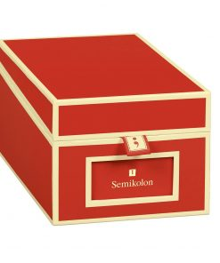 Business Card Box with 3 variable tabs and index cards A-Z, red | 4250053636152 | 352639