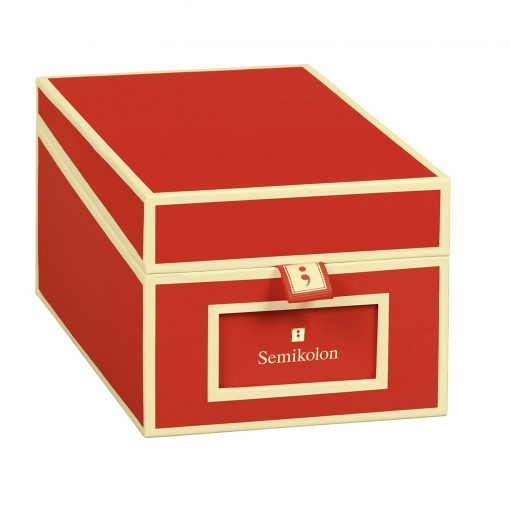 Business Card Box with 3 variable tabs and index cards A-Z, red   4250053636152   352639