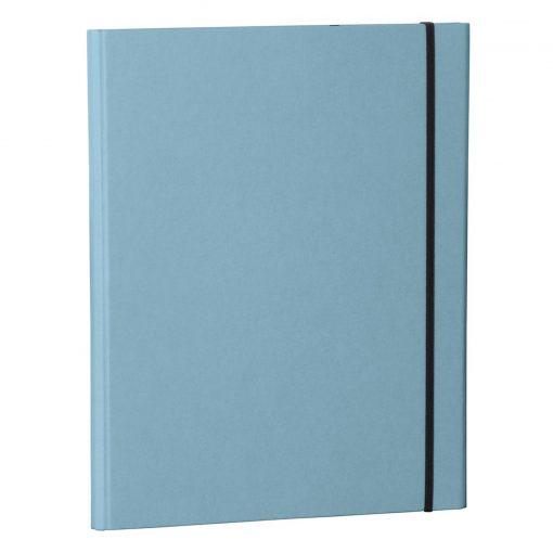 Clip Folder with metal clip,pen loop, elastic band (A4) & letter size,efalin cover, ciel | 4250053635360 | 353121