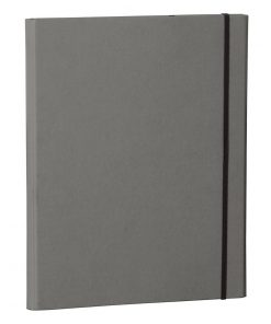 Clip Folder with metal clip,pen loop, elastic band (A4) & letter size,efalin cover, grey   4250053625668   353124