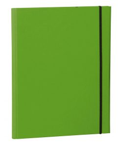 Clip Folder with metal clip,pen loop, elastic band (A4) & letter size,efalin cover, lime | 4250053635384 | 353123