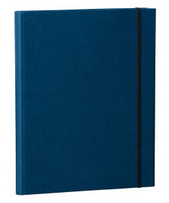 Clip Folder with metal clip,pen loop, elastic band (A4) & letter size,efalin cover, marine | 4250053635315 | 353115